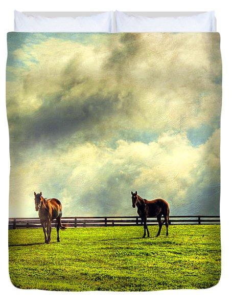 A Day In Kentucky Duvet Cover