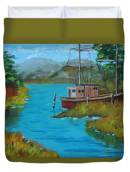 A Day Off Duvet Cover by Mike Caitham
