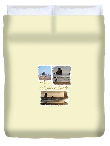 A Day On Cannon Beach Duvet Cover