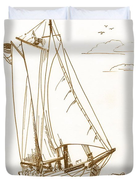 A Day On The Bay Duvet Cover