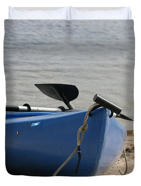A Day On The Water Duvet Cover by Barbara Bardzik