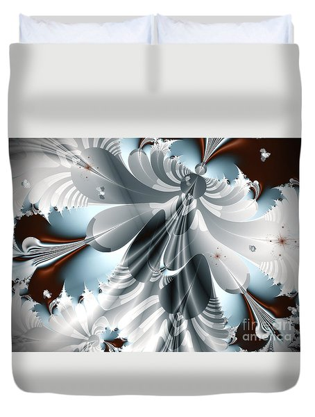 A Deeper Reflection Abstract Art Prints Duvet Cover by Valerie Garner