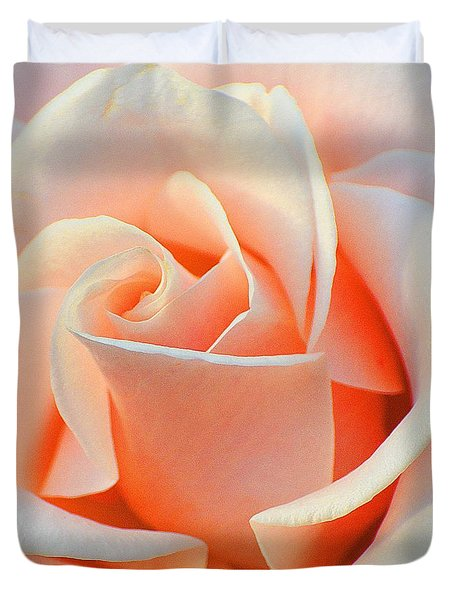 A Delicate Rose Duvet Cover by Cindy Manero