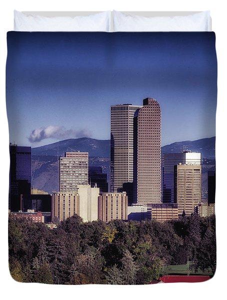 A Denver Autumn Duvet Cover by Mountain Dreams