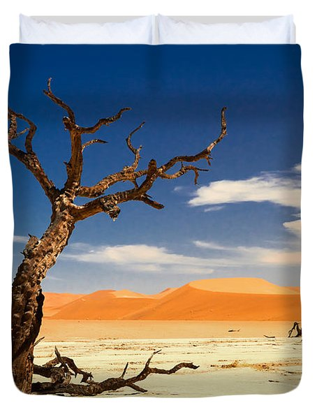 Duvet Cover featuring the photograph A Desert Story by Juergen Klust