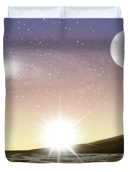 A Distant World Duvet Cover by Brian Wallace