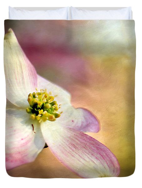 A Dogwood Bloom Duvet Cover by Darren Fisher