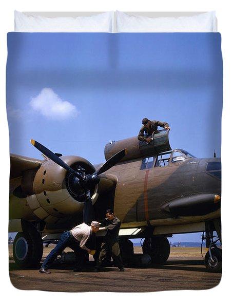 A Douglas A-20c-bo Havoc 1942 Duvet Cover by Celestial Images