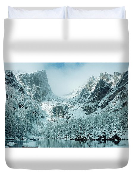 A Dream At Dream Lake Duvet Cover