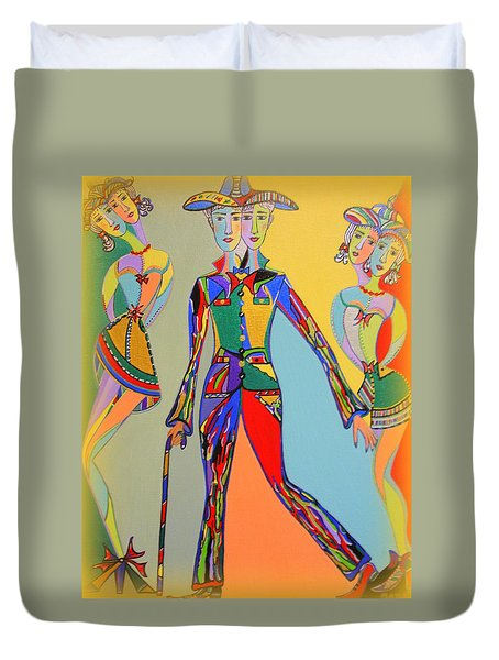 Men's Fantasy Duvet Cover by Marie Schwarzer