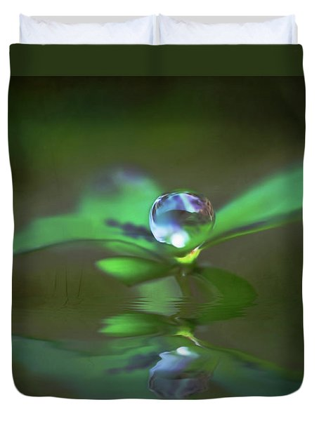 A Dream Of Green Duvet Cover