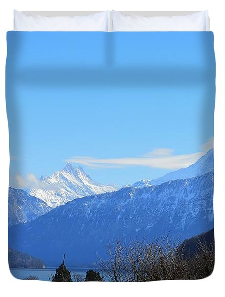 A Dream Over The Lake Duvet Cover