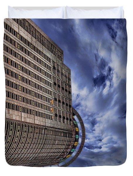 A Drifting Skyscraper Duvet Cover by Ron Shoshani