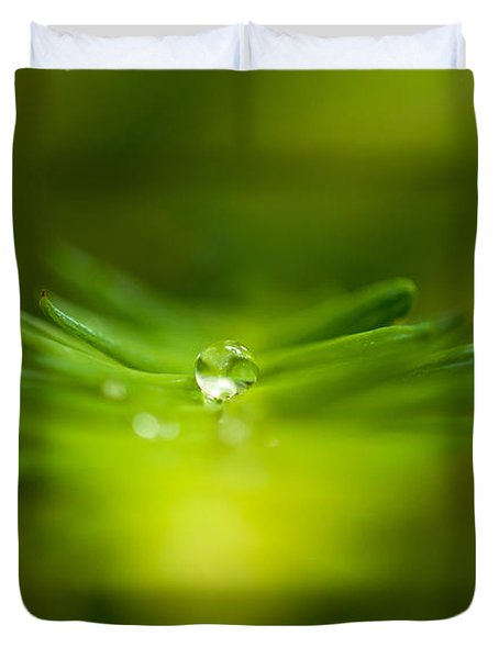 A Drop In The Green Duvet Cover by Sabine Edrissi