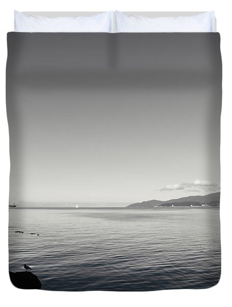 Duvet Cover featuring the photograph A Drop In The Ocean by Lisa Knechtel