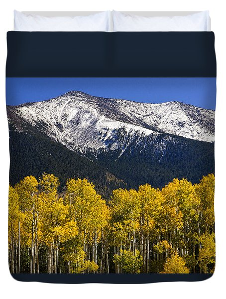 A Dusting Of Snow On The Peaks Duvet Cover by Saija  Lehtonen