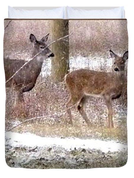 A Dusting On The Deer Duvet Cover