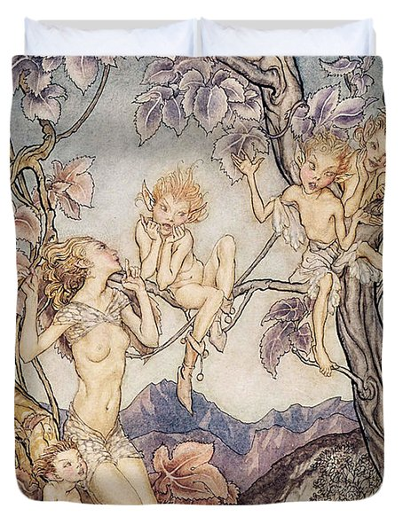 A Fairy Song From A Midsummer Nights Dream Duvet Cover