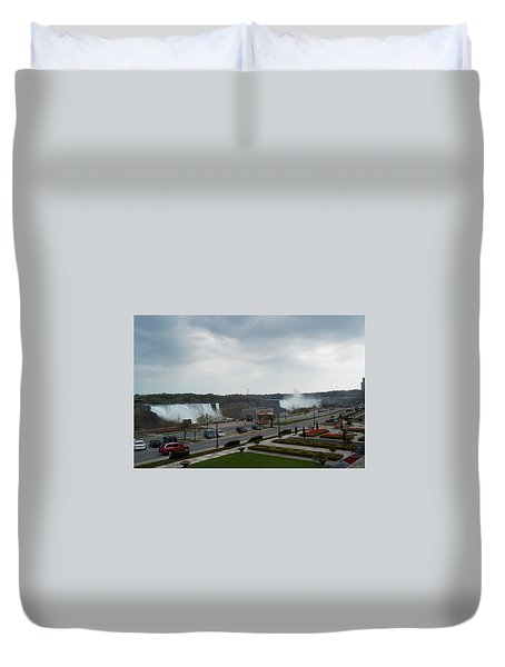 Duvet Cover featuring the photograph A Favorite Walkway by Barbara McDevitt