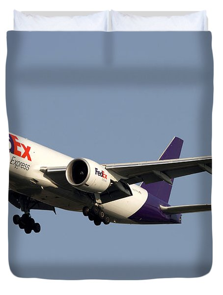 A Federal Express Boeing 777f Cargo Duvet Cover