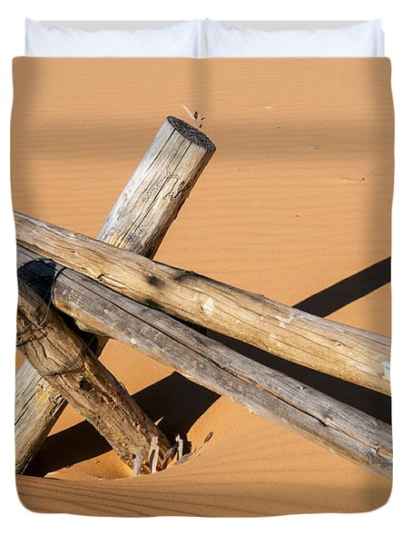 A Fence In The Sand Duvet Cover