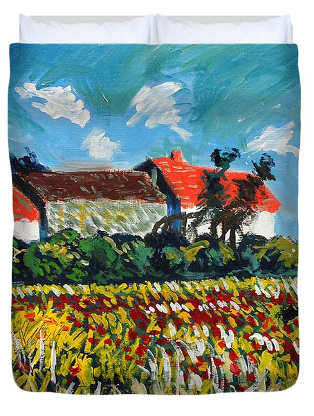 A Field In France Duvet Cover