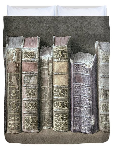 A Fine Library Duvet Cover by Jonathan Wolstenholme