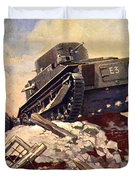 A First World War Tank Duvet Cover