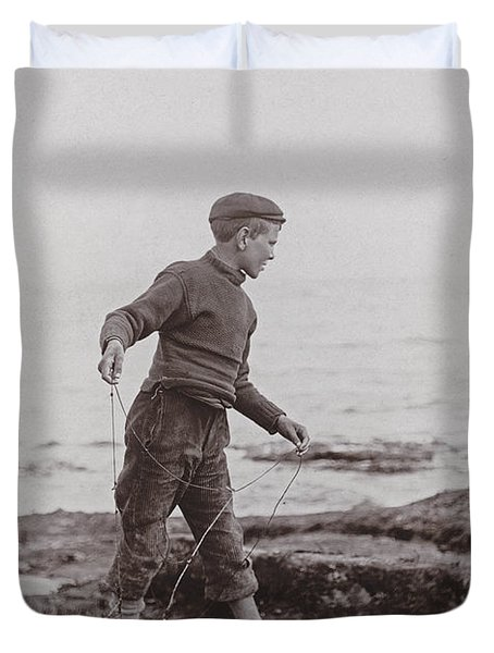 A Fisher Laddie Duvet Cover by James Patrck