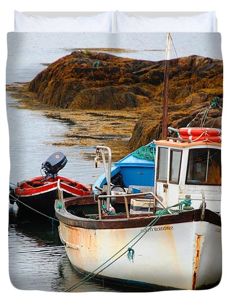 A Fishing We Will Go Duvet Cover