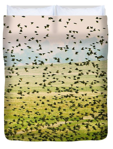 A Flock Of Freedom Duvet Cover