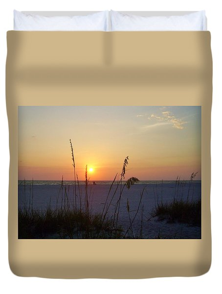 A Florida Sunset Duvet Cover
