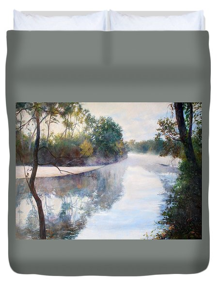 A Foggy Day Duvet Cover by Nancy Stutes