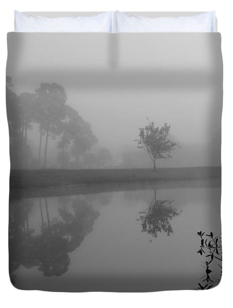 A Foggy Morning Duvet Cover