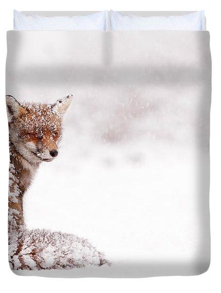 A Red Fox Fantasy Duvet Cover