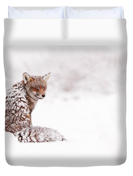 A Red Fox Fantasy Duvet Cover