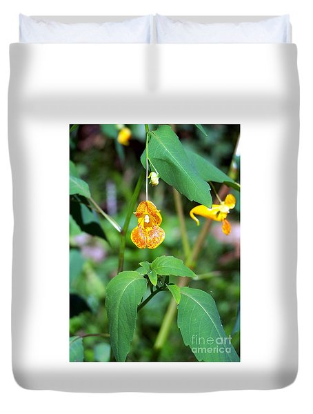 Duvet Cover featuring the photograph A Fragile Flower by Chalet Roome-Rigdon