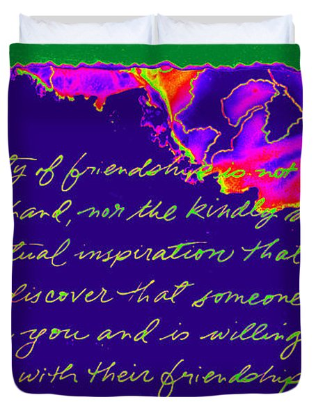 A Friendship Letter Duvet Cover