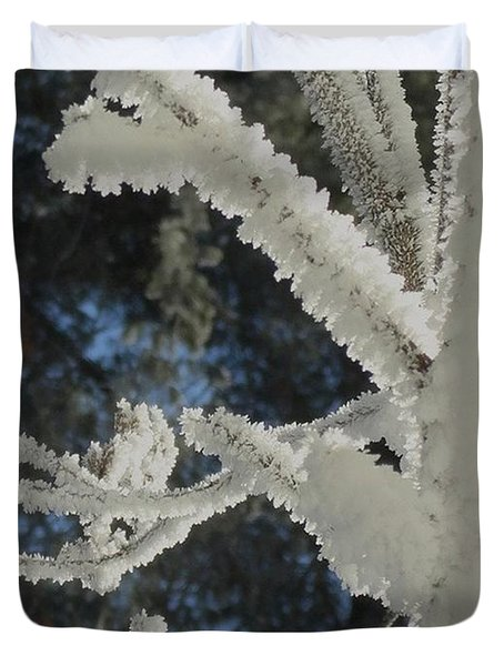 A Frosty Morning Duvet Cover