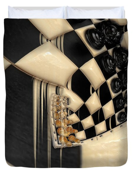 A Game Of Chess Duvet Cover by Liane Wright