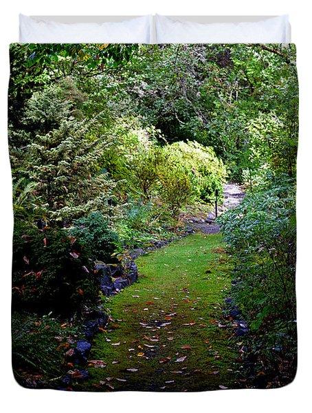 A Garden Path Duvet Cover