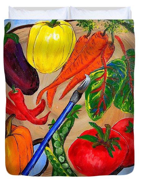 A Gardeners Palette Duvet Cover