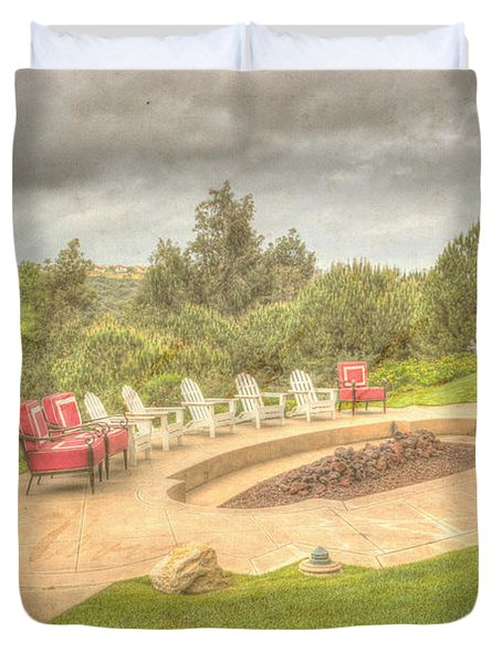 A Gathering Of Friends Duvet Cover by Heidi Smith