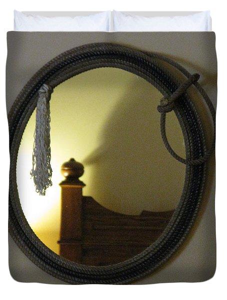A Ghost Of The Cowboy Duvet Cover by Ausra Huntington nee Paulauskaite