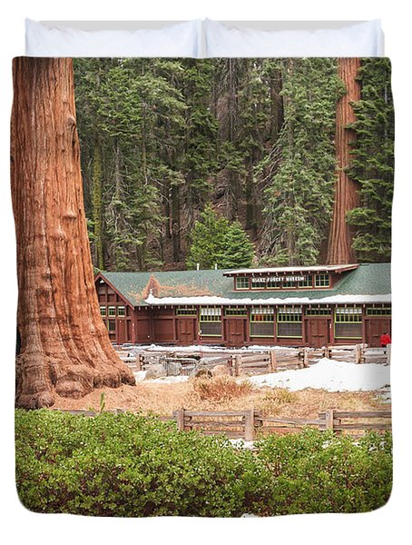 A Giant Among Trees Duvet Cover