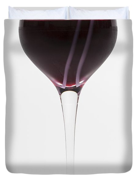 A Glass Of Red Wine Duvet Cover by Diane Macdonald