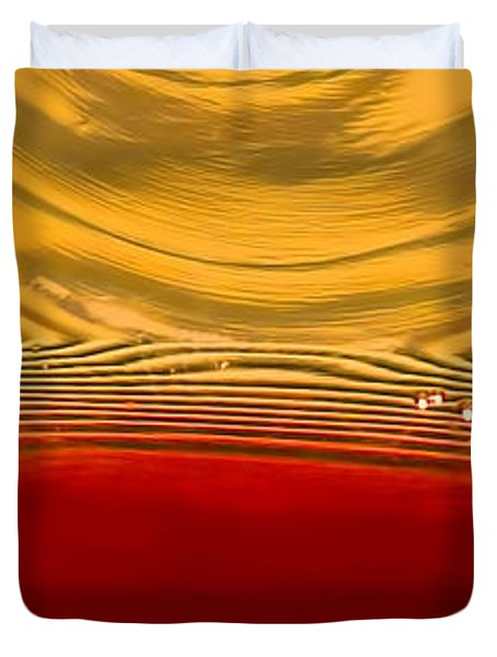 A Glass Of Wine-backlit With Blinds-and Wow Duvet Cover by Gary Holmes