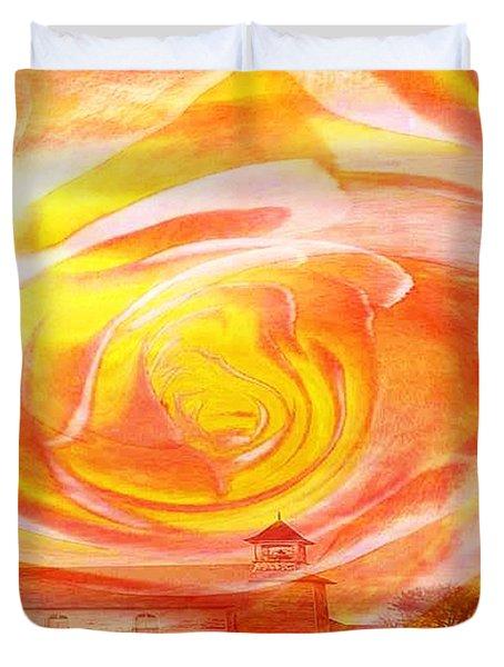 A Glorious God Duvet Cover by PainterArtist FIN