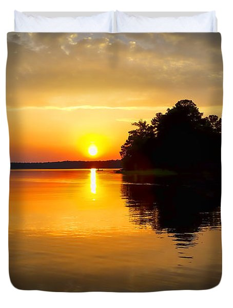 A Golden Moment Duvet Cover