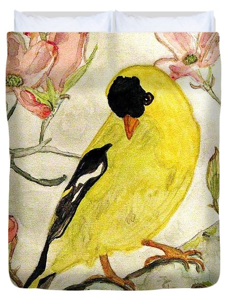 A Goldfinch Spring Duvet Cover